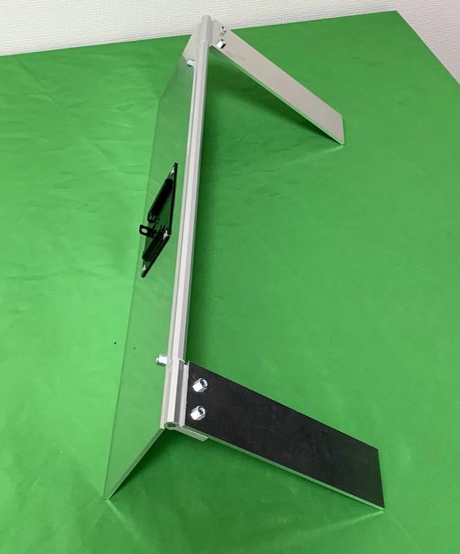 アルミフレームとスライドレールでキーボードと共存するタブレット台を作ってみた19
