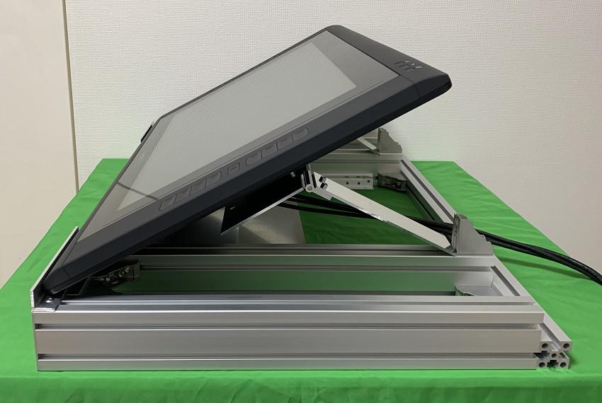 アルミフレームとスライドレールでキーボードと共存するタブレット台を作ってみた20